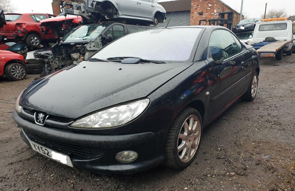 Peugeot 206 CC 2001-2009 breaking parts spares 2.0 Litre Petrol black